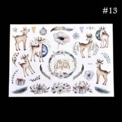 * 13 Karácsonyi Elk / Hóember / Santa Claus Uncut matricák DIY tervező napló album dekoráció