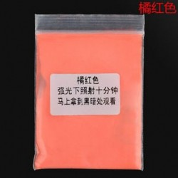 Narancsvörös 10g fényes fényes fényes fény a sötét por izzó pigmentben