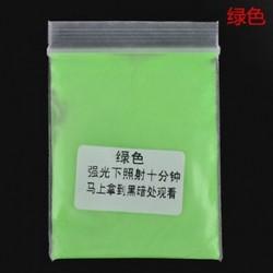 Zöld 10g fényes fényes fényes fény a sötét por izzó pigmentben