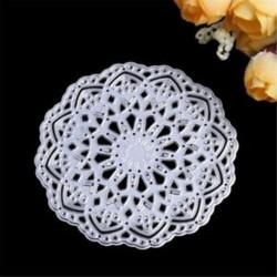 * 2 kerek virág (Dia 8cm) DIY Metal 3D vágószerszámok Stencil Scrapbook Album papírkártya Dombornyomó kézműves