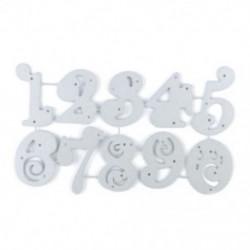 * 13 10 Szám (12 * 6,8 cm) DIY Metal 3D vágószerszámok Stencil Scrapbook Album papírkártya Dombornyomó kézműves