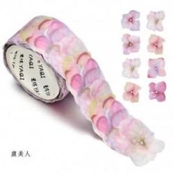 1 tekercs Poppy Washi szalagos papír maszkoló szalag Scrapbook dekoratív DIY ragasztó matrica dekoráció