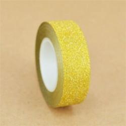 1 tekercs sárga (15mmX10m) Washi szalagos papír maszkoló szalag Scrapbook dekoratív DIY ragasztó matrica dekoráció