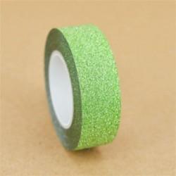 1 tekercs zöld (15mmX10m) Washi szalagos papír maszkoló szalag Scrapbook dekoratív DIY ragasztó matrica dekoráció