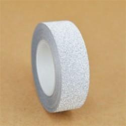 1 tekercs ezüst (15mmX10m) Washi szalagos papír maszkoló szalag Scrapbook dekoratív DIY ragasztó matrica dekoráció