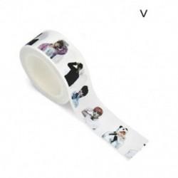 1 tekercs V (20 mmx10m) Washi szalagos papír maszkoló szalag Scrapbook dekoratív DIY ragasztó matrica dekoráció