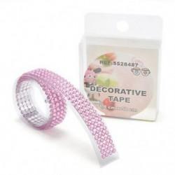 Rózsaszín Öntapadós akril strasszok ragaszkodnak a Scrapbooking kézműves matrica szalaghoz