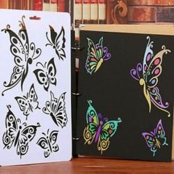 Új DIY Craft Butterfly Stencils sablon festés Scrapbooking bélyegek Album