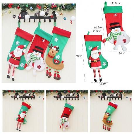 1x Karácsonyi zokni Mikulás Télapó Jézuska karácsonyi ajándék tartó tasak  kendők