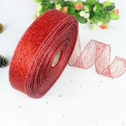 Piros 200 * 5CM színes szalag csipke karácsonyi karácsonyi fa dekoráció esküvői fél dísz