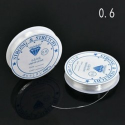 0,6 mm-es 2PCS / Pack Crystal Elasztikus Gyöngyös Cord String Thread a nyaklánc karkötő DIY