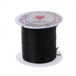 Fekete 1 Roll Elasztikus Gyöngyözés Menet Stretch Poliészter Vezeték húr az ékszer készítéséhez