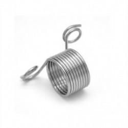 S Fonott kötőgyűrű szerszám ujjbőrszál fonal tűsín rozsdamentes acél szerszám