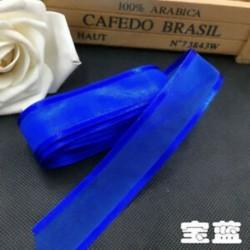 Királykék DIY 5yds 1 &quot (25mm) Satin Edge Organza szalag íj esküvői dekoráció csipke kézműves