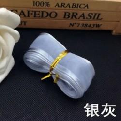 Ezüstszürke DIY 5yds 1 &quot (25mm) Satin Edge Organza szalag íj esküvői dekoráció csipke kézműves