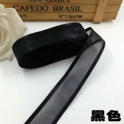 Fekete DIY 5yds 1 &quot (25mm) Satin Edge Organza szalag íj esküvői dekoráció csipke kézműves