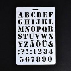 1 * Ábécé betű szám rétegezés stencil festés Scrapbooking papír kártyák kézműves