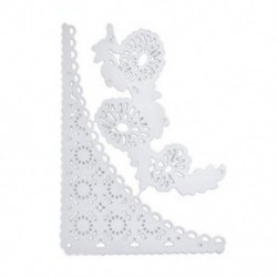* 16 csipke virág (85 * 12 mm) DIY fém csipke vágószerszámok Stencil Scrapbook Album papírkártya dombornyomó kézműves
