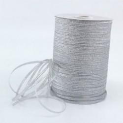 Ezüst 20 yard (4mm) 1 / 8`` Fémes csillogás csillogó szalagok Karácsonyi csomagolás ajándék