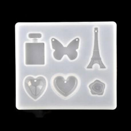 3dfec6ee9e85 * 4 Nyaklánc függő szilikon penész gyanta dekoratív kézműves ékszerek DIY  készítése penész