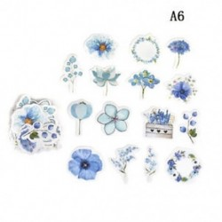 A6 45db Kawaii Journal napló dekor Virág matricák Scrapbooking írószerek JP
