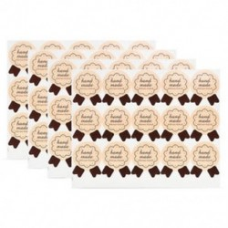 60db Kézzel készített Aranyos boríték tömítések Papír matricák címke 60-120db &quot Köszönöm&quot  esküvői