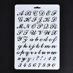 2 * Festés Scrapbooking papírkártyák Craft Letter ábécé száma Layering Stencils