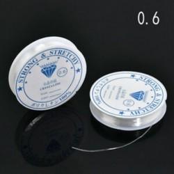 * A-2PCS 0.6mm / 15M 2PCS / Pack Elasztikus Crystal Beading Cord String szál a DIY nyaklánc karkötőhöz