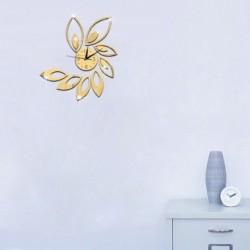 1x Lótusz virág mintás DIY Akril tükör hatású falimatrica matrica Vinyl otthon szoba lakás dekoráció