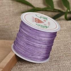 Lila Nylon Cord Thread 0.8mm kínai csomó Macrame Rattail karkötő fonott string 45M