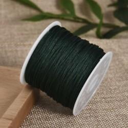 Sötétzöld Nylon Cord Thread 0.8mm kínai csomó Macrame Rattail karkötő fonott string 45M