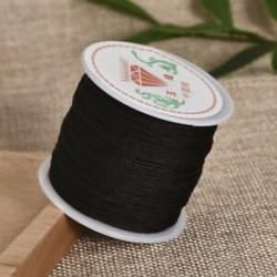 Sötétbarna Nylon Cord Thread 0.8mm kínai csomó Macrame Rattail karkötő fonott string 45M