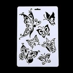3 * Pillangó DIY Craft Angel Butterfly Layering Stencils Festés Scrapbooking Stamps Album