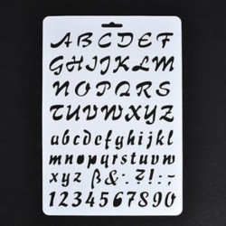 3 * Levél ábécé száma Layering Stencils Festés Scrapbooking papír kártyák Craft