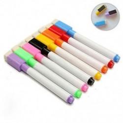 10 DB 5 / 10Pcs műanyag faliújságjelző száraz törlő toll, radírfedéllel, színes HOT