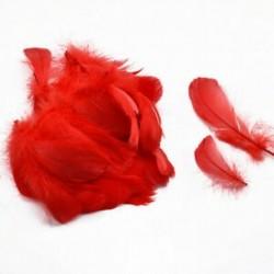 Piros 100PCS természetes liba tollak 8-12 cm hattyú Plume DIY karnevál dekoráció kézműves tétel