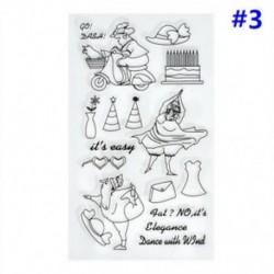 3 * Szilikon tiszta gumi bélyegzők tömítés DIY Scrapbooking album kártya dekoráció napló Craft