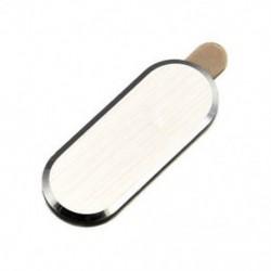 Arany Tétel otthon gomb fém védő matrica bőr bőr Samsung Galaxy S6 S7 Edge