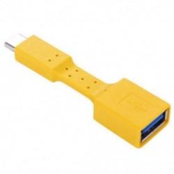 Sárga USB-C 3.1 C típusú férfi-USB 3.0 kábeladapter OTG adatszinkronizáló töltő JP töltés