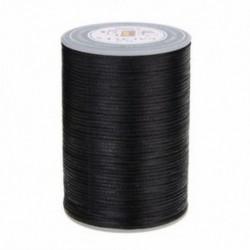 Fekete Waxed Thread 0.8mm 90m poliészter kábel varrás varrással bőr kézműves karkötő