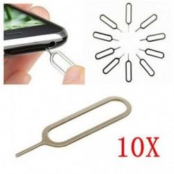 10PCS SIM kártya tálca eltávolító kilökő gomb kulcsszerszám iPhone 6 5S 4S 4 3 iPad Lot