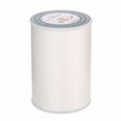 fehér 90 m-es viaszos szál 0,8 mm-es poliészter kábel varrással varrott bőr kézműves karkötő