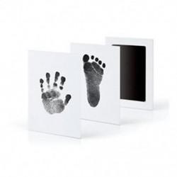 Fekete Baby Newborn Imprint Handprint Footprint Clean Touch tintapatron fotókeret készlet Hot