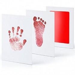 Piros Baby Newborn Imprint Handprint Footprint Clean Touch tintapatron fotókeret készlet Hot