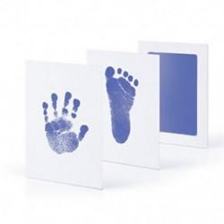 Világoskék Baby Newborn Imprint Handprint Footprint Clean Touch tintapatron fotókeret készlet Hot
