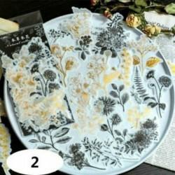 * 2 60db címke napló papír matrica Scrapbooking növények Virág matricák Telefon dekoráció