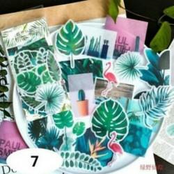 * 7 60db címke napló papír matrica Scrapbooking növények Virág matricák Telefon dekoráció