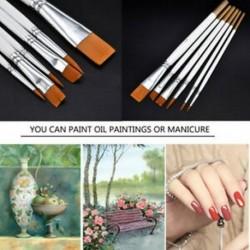 6Pcs / Set Art festési ecsetek Akril olaj akvarell művész festék ecset készlet