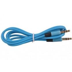 Kék Jack férfi és férfi audio sztereó Aux hosszabbító kábel kábel iPhone iPod 3,5 mm J