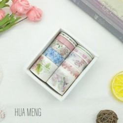 10 tekercs HUA MUNG mintás-színes Washi dekor szalag - dekoratív öntapadós szalag - 2